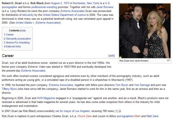 Rob Black Wikipedia page