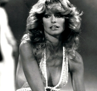 Farrah Fawcett black and white