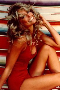 Farrah Fawcett red swimsuit 1976